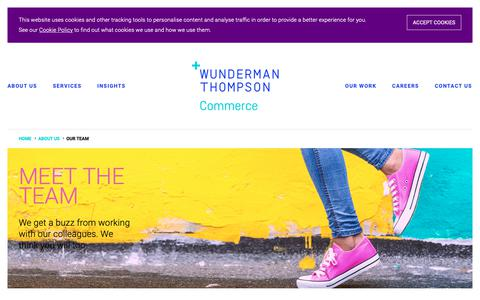 Screenshot of Team Page wundermanthompsoncommerce.com - Meet the Team Behind Ecommerce Specialists - Wunderman Thompson Commerce - captured March 9, 2019