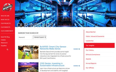 Our Insights, Resources & What We Think - Bechtel