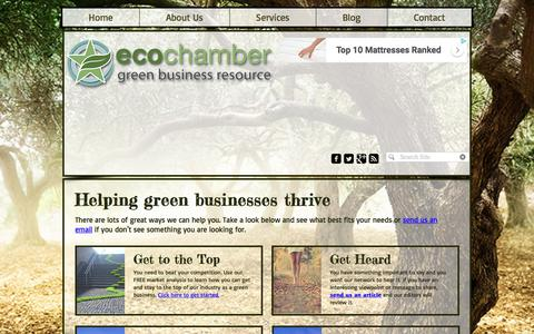 Screenshot of Services Page ecochamber.com - EcoChamber Services - captured July 16, 2018