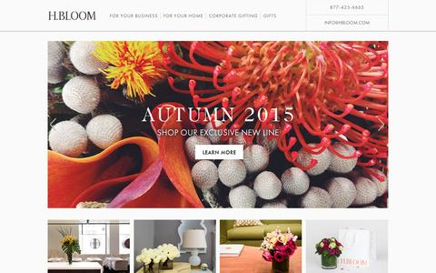 H.BLOOM:  	Luxury Flower Delivery Service
