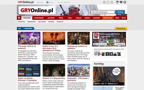 NEWSROOM - Najnowsze wiadomoĹ›ci o grach - GRY-Online.pl