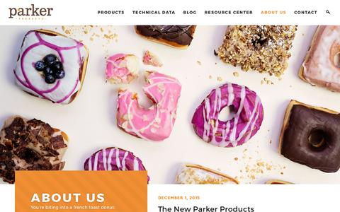 Screenshot of About Page parkerproducts.com - About Us - Parker Products - captured Jan. 25, 2016