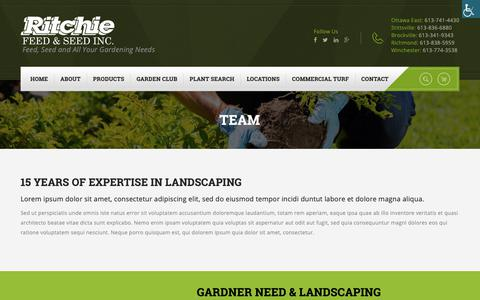 Screenshot of Team Page ritchiefeed.com - Team – Ritchie Feed & Seed - captured Oct. 20, 2018