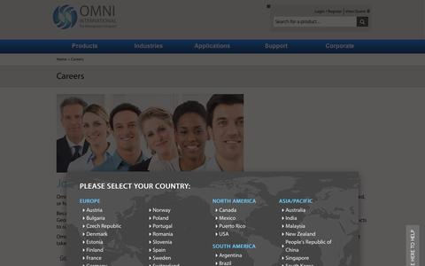 Screenshot of Jobs Page omni-inc.com - The Homogenizer Company Jobs Available OMNI Inc The Homogenizer Company - captured Jan. 17, 2016