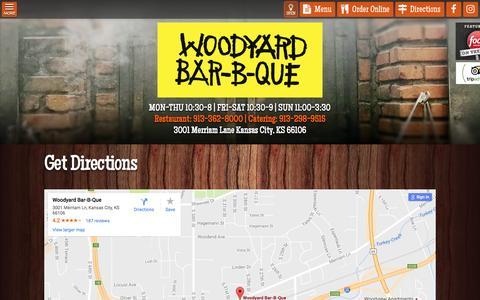 Screenshot of Maps & Directions Page woodyardbbq.com - Get Directions - Woodyard BBQ - captured Nov. 30, 2016