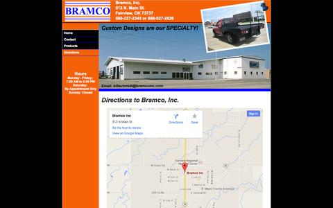 Screenshot of Maps & Directions Page bramcoinc.com - Directions to Bramco, Inc. - captured Sept. 30, 2014