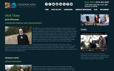 Screenshot of Team Page greenscapesaustin.com - Our Team « - captured Oct. 3, 2014