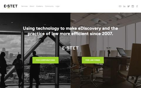 Screenshot of Home Page e-stet.com - E-STET - captured May 11, 2016