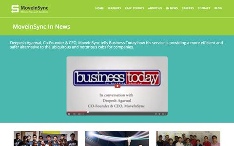 Screenshot of Press Page moveinsync.com - MoveInSync in News and Media - captured Feb. 16, 2016