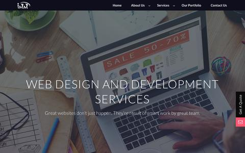 Screenshot of Services Page immwit.com - Web Design and Development Services - Website Services Provider, IT Consultant, IT Services - captured Sept. 30, 2017