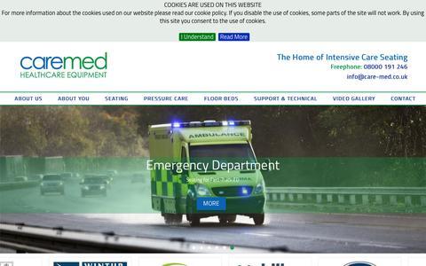 Screenshot of Home Page care-med.co.uk - Care-med.co.uk - captured May 14, 2017