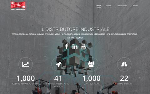 Screenshot of Home Page arroweld.it - Gruppo Arroweld – Il Distributore Industriale - captured March 10, 2018