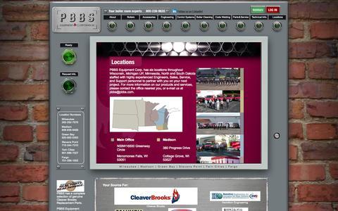 Screenshot of Locations Page pbbs.com - PBBS - Boiler Maintenance and Repair - captured Oct. 1, 2014