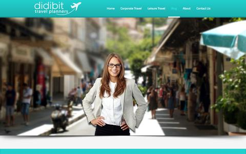 Screenshot of Home Page Blog About Page Contact Page didibit.com - didibit | travel planners - captured Oct. 5, 2014