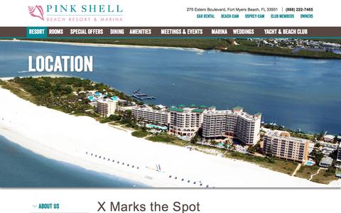 Screenshot of Maps & Directions Page pinkshell.com - Fort Myers Florida Resorts | Maps and Directions | Pink Shell - captured Nov. 6, 2016