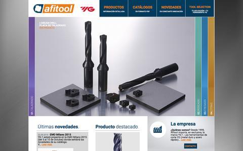 Screenshot of Home Page afitool.es - Afitool S. L. / YG-1 España - captured Feb. 5, 2016