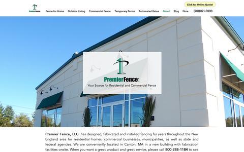 Screenshot of About Page premier-fence.com - About   Premier Fence, LLC - captured Sept. 29, 2018