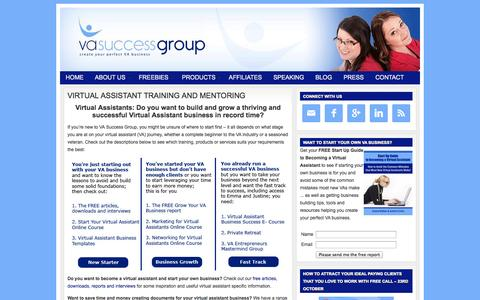 Screenshot of Home Page vasuccessgroup.co.uk - Virtual Assistant training, mentoring and resources from VA Success Group - captured Oct. 7, 2014