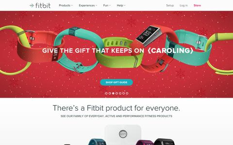 Screenshot of Home Page fitbit.com - Fitbit Official Site for Activity Trackers & More - captured Dec. 11, 2015