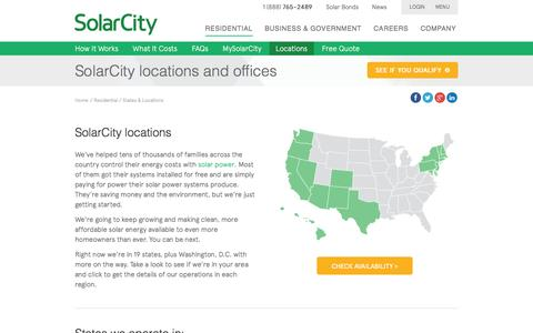 SolarCity Locations by State - Solar by State | SolarCity