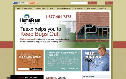 Screenshot of Home Page pestdefense.com - Pest Exterminator Services -  Bug & Insect Control | HomeTeam - captured Sept. 19, 2014