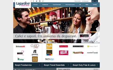 Screenshot of Home Page airest.com - Lagardere - captured Feb. 5, 2016