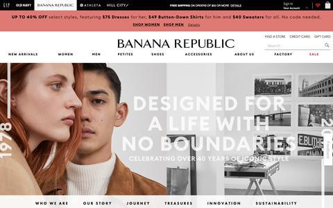 Screenshot of About Page gap.com - home | Banana Republic - captured Aug. 22, 2019