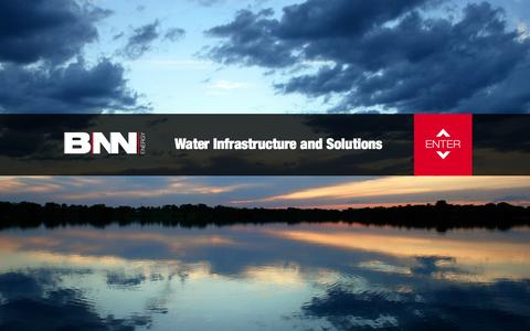 Screenshot of Home Page bnn-energy.com - BNN Energy: We Deliver Water. - captured Sept. 30, 2014