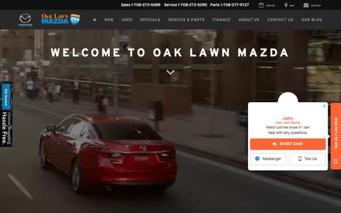 Screenshot of Home Page oaklawnmazda.com - Mazda Dealer in Oak Lawn, IL | Used Cars Oak Lawn | Oak Lawn Mazda - captured Sept. 21, 2018