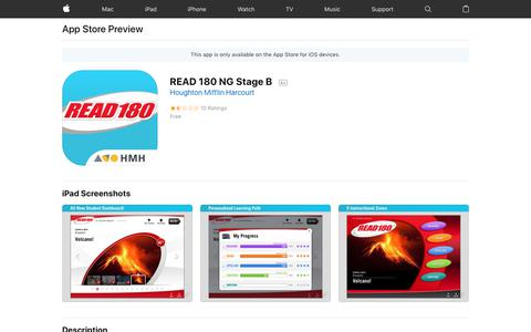 READ 180 NG Stage B on the App Store