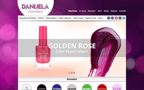 Screenshot of Home Page danijela-commerce.com - Danijela Commerce | Generalni uvoznik za Golden Rose - captured Oct. 5, 2014