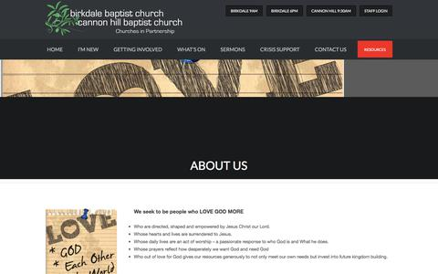 Screenshot of About Page birkdalebaptistchurch.org - About Us - captured July 4, 2018