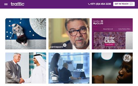 Screenshot of Case Studies Page wewanttraffic.ae - Traffic Digital Portfolio: Digital Marketing, Website Design, Development & SEO - captured Jan. 22, 2017