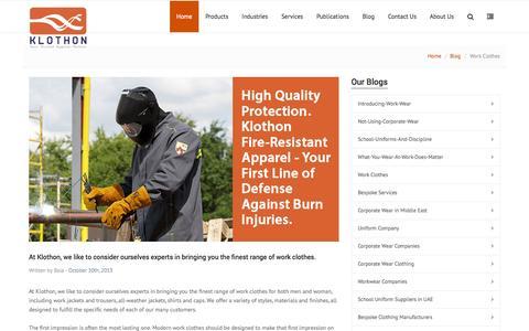 Screenshot of Blog klothon.com - work-clothes - captured Sept. 30, 2014