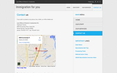 Screenshot of Contact Page gridserver.com - Contact us   Immigration for you - captured Sept. 18, 2014