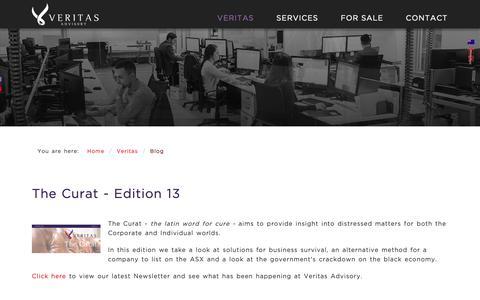 Screenshot of Blog veritasadvisory.com.au - Veritas Advisory - Blog - captured Oct. 18, 2018