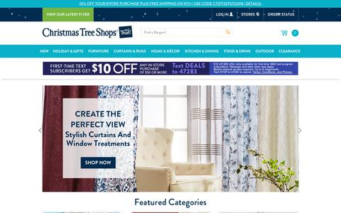 Screenshot of Home Page christmastreeshops.com - Bargain Prices on Furniture, Home Decorations and Gifts | Christmas Tree Shops andThat! - Christmas Tree Shops and That! - captured Nov. 7, 2018