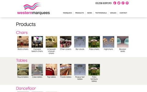 Screenshot of Products Page westernmarquees.co.uk - Products | Western Marquees - captured Oct. 20, 2018