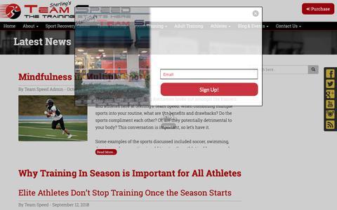 Screenshot of Blog teamspeedco.com - Blog   Team Speed Training - captured Oct. 18, 2018