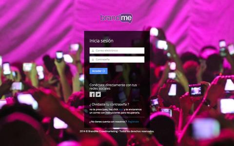 Screenshot of Login Page brandme.la - BrandMe Crowdmarketing | Inicia Sesión - captured Oct. 30, 2014