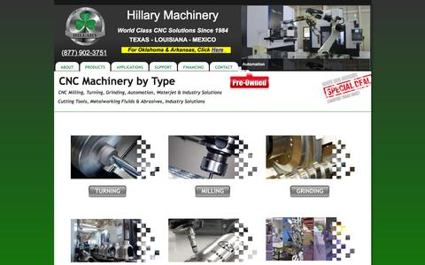Screenshot of Products Page hillaryinc.com - CNC Machines by Type | Hillary Machinery - captured Jan. 30, 2016