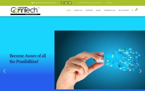 Screenshot of Home Page conntechinc.com - Conntech Inc | We are all about connectors and connections. – pro audio,pro video,audio and video equipment installers, wire techs, video techs, broadcast installation, residential installation,commercial installation,connectors,cable,adapters,harnes - captured Sept. 29, 2018