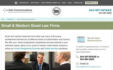 Small & Medium Sized Law Firms | Alert Communications