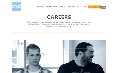 Screenshot of Jobs Page domo.com - Domo Jobs & Careers | Domo - captured Sept. 15, 2014