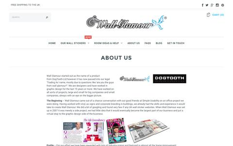 Screenshot of About Page wallglamour.co.uk - About Us – Wall Glamour - captured Feb. 26, 2016