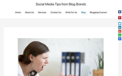 Screenshot of Blog blogbrandz.com - Social Media Tips from Blog Brandz - captured Oct. 1, 2018
