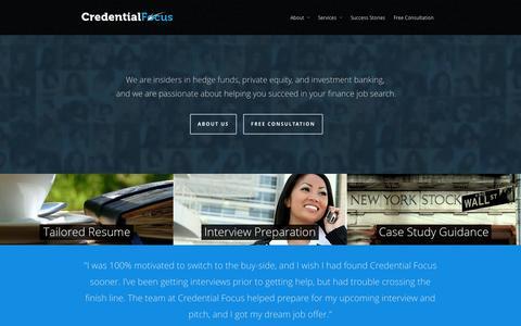 Screenshot of Home Page credentialfocus.com - Credential Focus- Home - captured Sept. 30, 2014