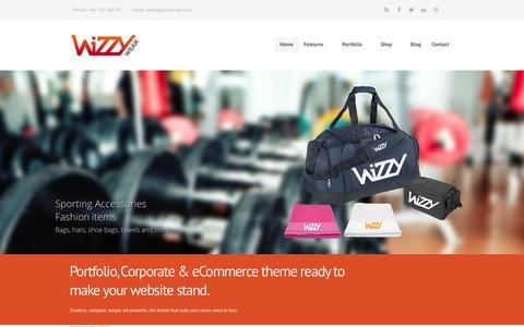 Screenshot of Home Page wizzywear.com - Homepage Style 1 - Wizzy Wear - captured Feb. 28, 2016