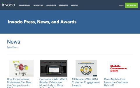 Screenshot of Press Page invodo.com - Press Room - Invodo - captured April 14, 2016