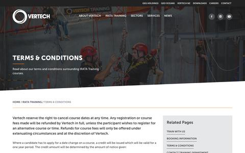 Screenshot of Terms Page vertech.com.au - Terms & Conditions - Vertech - captured Oct. 19, 2018